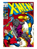 X-Men 53 Cover: Cyclops and Blastaar Print by Windsor-Smith Barry