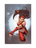 Ultimate Elektra 5 Cover: Elektra Print by Salvador Larroca