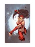 Ultimate Elektra No.5 Cover: Elektra Prints by Salvador Larroca