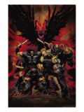 X-Force 16 Cover: Wolverine, X-23, Cable, Warpath, Apocalypse and Archangel Posters by Kaare Andrews