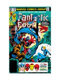 Fantastic Four 242 Cover: Terrax, Human Torch, Thing, Invisible Woman and Mr. Fantastic Fighting Posters by Byrne John