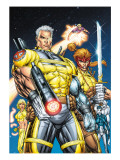 X-Force 1 Cover: Cable, Shatterstar and Cannonball Posters by Liefeld Rob