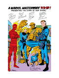 Fantastic Four No.250: Mr. Fantastic, Invisible Woman, Human Torch, Thing, Richards and Franklin Kunstdrucke von John Byrne