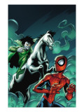 Marvel Adventures Spider-Man 12 Cover: Spider-Man and Nightmare Art par Mike Norton