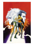 Sable &amp; Fortune 1 Cover: Silver Sable, Fortune and Dominic Fighting Prints by Burns John