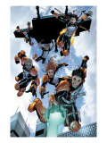 New X-Men: Academy X No.16 Group: Hellion, Moonstar, Quill, Surge, Synch and Wind Dancer Prints by Aaron Lopresti