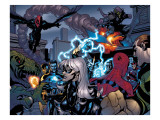 Marvel Knights Spider-Man 10 Group: Spider-Man, Black Cat, Green Goblin, Lizard and Vulture Print