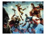 Avengers vs. Atlas No.1 Group: Thor, Iron Man, Captain America and Giant Man Prints by Gabriel Hardman