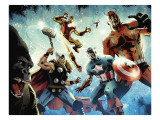 Avengers vs. Atlas No.1 Group: Thor, Iron Man, Captain America and Giant Man Prints by Hardman Gabriel
