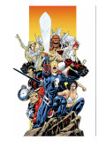 The Official Handbook Of The Marvel Universe Teams 2005 Group: Captain Britain Prints by Raimondi Pablo
