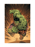 Marvel Adventures Hulk 14 Cover: Hulk Poster von David Nakayama
