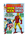 Tales Of Suspense 59 Cover: Iron Man and Captain America Charging Posters by Don Heck