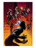 Ultimate Spider-Man No.126 Cover: Spider-Man, Iron Man, Captain America and Thor Art by Stuart Immonen