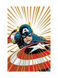 Captain America V4, 27 Cover: Captain America Fighting Art par Dave Johnson