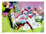 X-Men Archives No.4 Cover: Captain Britain and Meggan Kunstdruck von Alan Davis