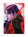 New Avengers No.38 Cover: Cage, Luke, Jones and Jessica Art