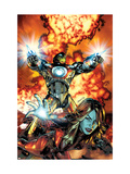 Ultimate Comics Armor Wars No.2 Cover: Iron Man, Hammer and Justine Print by Brandon Peterson