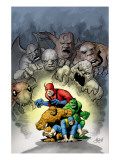 Marvel: Monsters On The Prowl 1 Cover: Thing, Hulk, Beast and Giant Man Posters