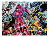 X-Men : Days Of Future Past Wrap Cover Cover: Wolverine Kunstdruck von Byrne John