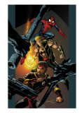 Ultimate Spider-Man 85 Cover: Spider-Man, Shang-Chi and Iron Fist Art by Mark Bagley
