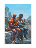 Marvel Team-Up No.9 Cover: Daredevil, Cage and Luke Kunstdrucke von Scott Kolins