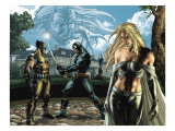 Wolverine No.55 Group: Cyclops, Wolverine, Emma Frost and Sabretooth Fighting Posters by Simone Bianchi