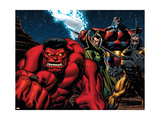 Hulk No.10 Group: Rulk, Baron Mordo, Terrax and Tigershark Prints by Ed McGuinness