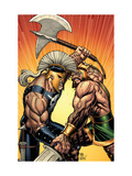 Incredible Hercules No.113 Cover: Hercules and Ares Arte por Arthur Adams