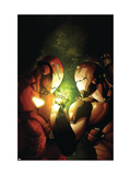 Avengers: The Initiative 12 Cover: Iron Man and War Machine Fighting and Flying Art