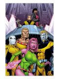 Exiles No.66 Cover: Blink, Sabretooth, Mimic, Morph and Exiles Posters by Calafiore James