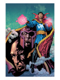 Excalibur 13 Cover: Dr. Strange, Magneto and Professor X Prints by Lopresti Aaron