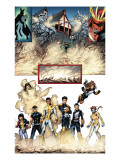 New X-Men No.19 Group: Prodigy, Hellion, Mercury, Wind Dancer, Dust, New Mutants and Hellions Art by Aaron Lopresti