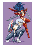 New Mangaverse No.3 Cover: Black Cat and Elektra Prints by Tommy Ohtsuka