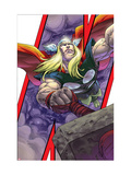 Avengers: Earths Mightiest Heroes No.3 Cover: Thor and Mjolnir Prints by Kolins Scott