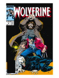 Wolverine No.6 Cover: Wolverine, Roughouse and Bloodsport Prints by John Buscema