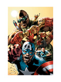 Ultimates Annual 1 Cover: Captain America, Rocketman, Iron Man, Goliath and Ultimates Crouching Posters by Bryan Hitch