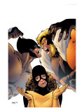 Wolverine: First Class 2 Cover: Wolverine, Sabretooth and Shadowcat Prints by Kirk Leonard