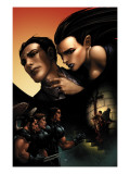 X-Force 11 Cover: Wolverine, Angel, Warpath and Selene Poster von Clayton Crain
