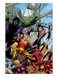 Exiles No.43 Group: Hyperion, Hulk and Spider-Man Prints by Calafiore James
