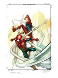 Spider-Man: The Clone Saga No.4 Cover: Spider-Man and Scarlet Spider Poster by Tom Raney