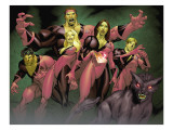New Mutants No.7 Group: Jetstream, Roulette, Beef, Tarot, Catseye and Bevatron Prints by Diogenes Neves
