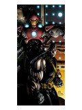 Ultimate War No.3 Cover: Iron Man and Colossus Poster von Chris Bachalo