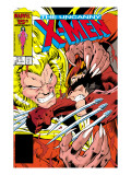 Uncanny X-Men No.213 Cover: Sabretooth and Wolverine Prints by Davis Alan