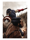 Wolverine: Origins No.20 Cover: Wolverine and Captain America Poster