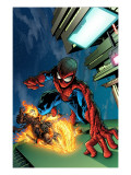 Timestorm 2009/2099 4 Cover: Spider-Man and Ghost Rider Affiches par Tom Raney