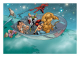 Alpha Flight 6 Group: Nemesis, Sasquatch, Major Mapleleaf, Yukon Jack and Alpha Flight Fighting Posters by Henry Clayton
