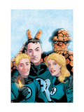 Fantastic Four Volume 3 No.50 Cover: Thing, Mr. Fantastic, Human Torch and Invisible Woman Posters by Windsor-Smith Barry