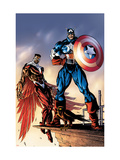 Captain America And The Falcon No.3 Cover: Captain America and Falcon Posters by Sears Bart