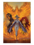 What if Astonishing X-Men 1 Cover: Emma Frost, Phoenix and Cyclops Affiches par J. Scott Campbell