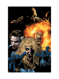 Ultimate Fantastic Four 22 Group: Mr. Fantastic Print by Land Greg
